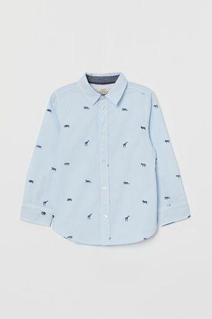 Рубашка H&M 8-9 футболка сорочка в школу ( Benetton Zara Next Mango)