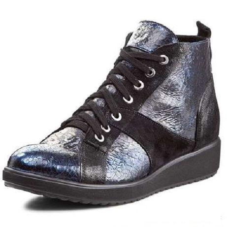 Skórzane, nowe sneakersy firmy ANN MEX, rozmiar 38