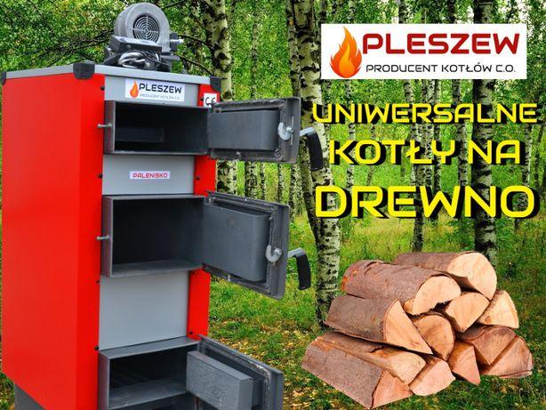 Promocja KOCIOŁ 7 kW do 60 m2 KOTŁY Drewno PIEC WYSYLKA dmuchawa ster