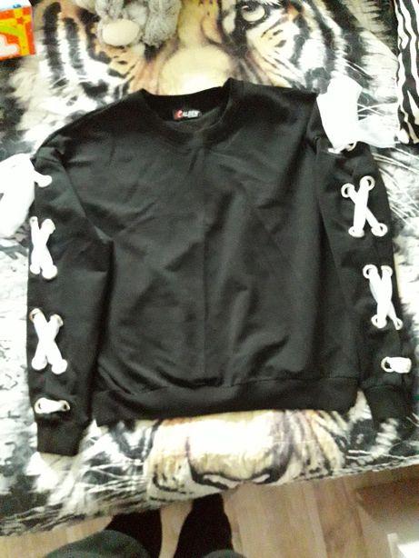 Bluzka czarne z wiązane