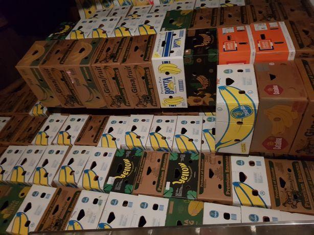 Pudełka na przeprowadzki, kartony po bananach
