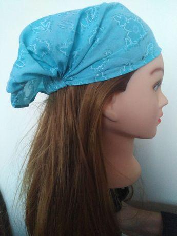 Przewiewna czapka dziewczęca na głowę