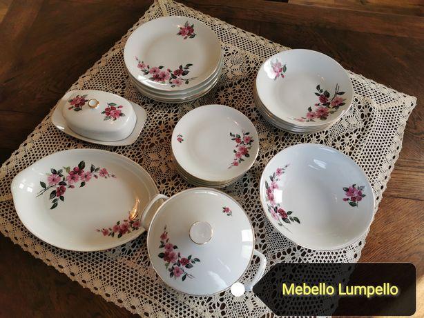 EPIAG DF CZECHOSLOVAKIA porcelana 6 osób obiadowa kwiatowy wzór