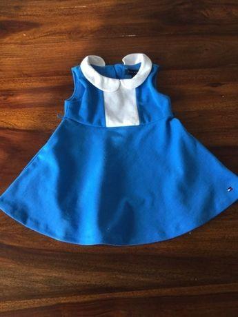 Prześliczna sukienka Tomy Hilifiger na 6-9 miesięcy.