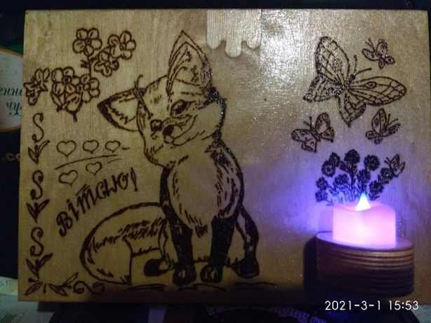 Оригинальный симпатичный светильник-сувенир.