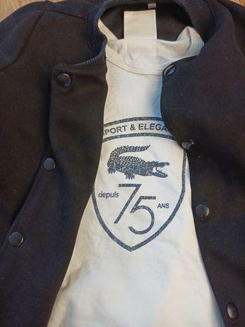 Bluza narzutka plus t-shirt Lacoste