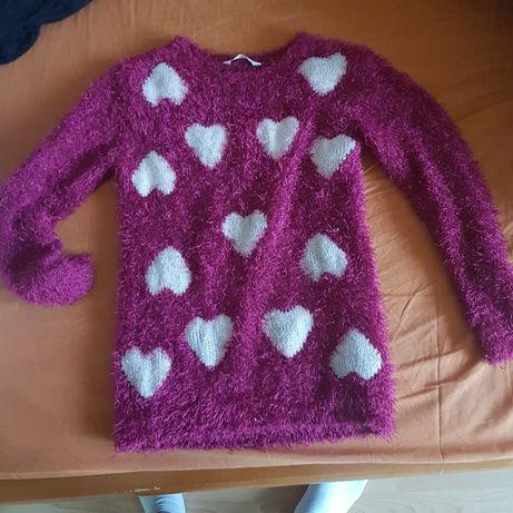 Ciepły sweterek dla dziewczynki