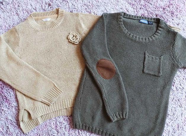 Dwa sweterki 122/128cm + bluzka gratis