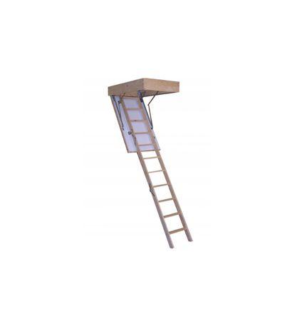 Schody strychowe ocieplane Termo metalowo-drewniane 70x120 gr. 53mm