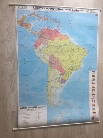 Mapa Ameryka Południowa