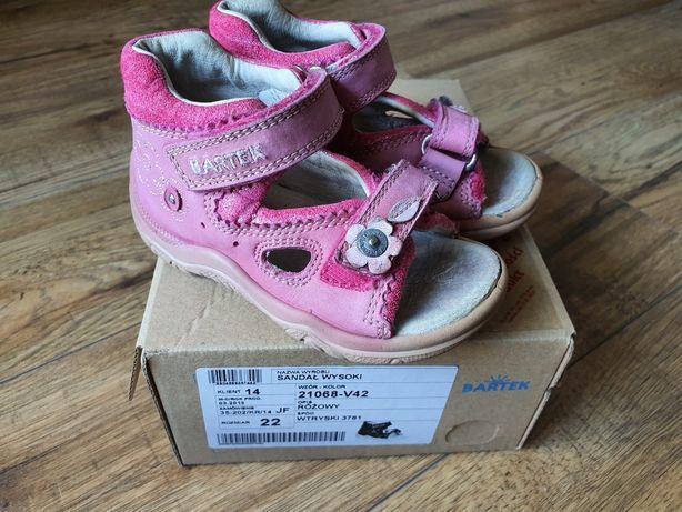Sandałki dziewczęce Bartek rozmiar 22