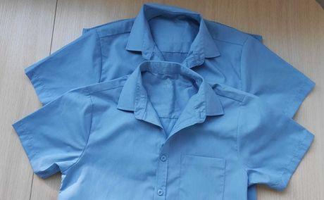 Голубая рубашка с кор. рукавом Некст для мальчика на 12 лет Next