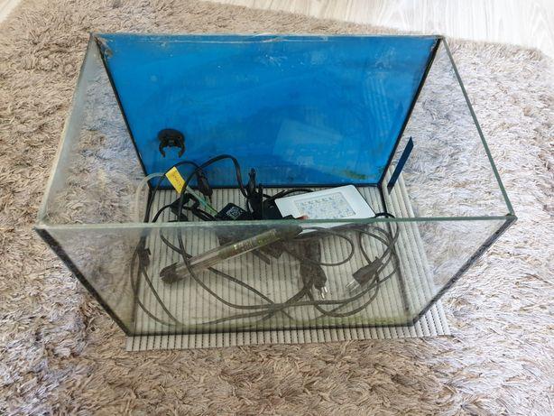 Akwarium 25l z grzałką, filtrem i oświetleniem.