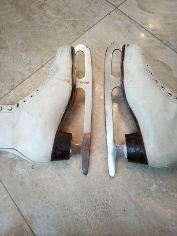Коньки ковзани лед фигурные,Adidas RIA, Югославия,кожаные,37,Русановка