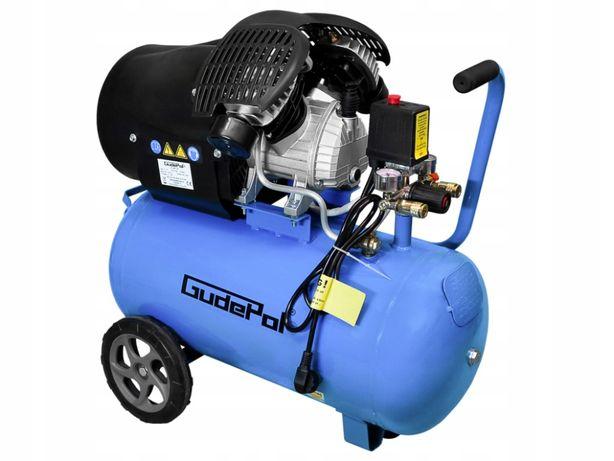 Kompresor olejowy sprężarka GUDEPOL 8 BAR / 50L 230V