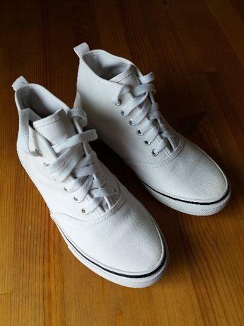 Tenisówki Wysokie H&M, Białe, Sneakers, Rozm 37