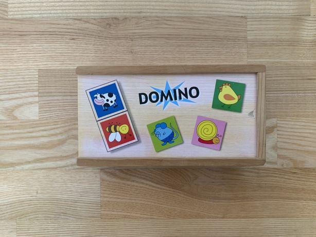 Drewniana układanka Domino.