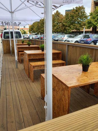 Esplanada em Ferro e deck (2x7m)
