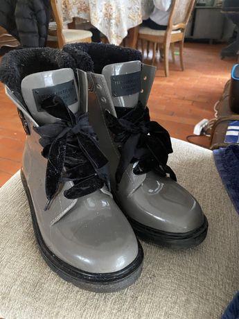 Trussardi Jeans buty w typie martensów r.38