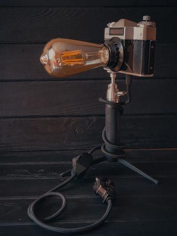 Винтажный loft светильник из фотоаппарата Зенит