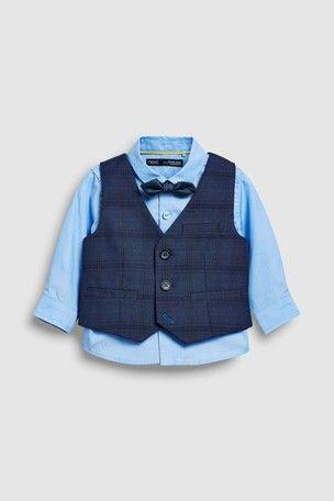 Бомбовый праздничный комплект Next рубашка бабочка жилет, на 6-7лет