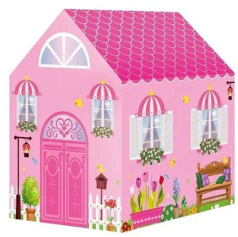 Różowy Śliczny Duży Namiot Domek Dla Małej Księżniczki