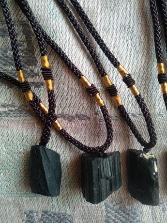 Кулон, подвеска Шерл,черный турмалин камень 100%Оригинал.