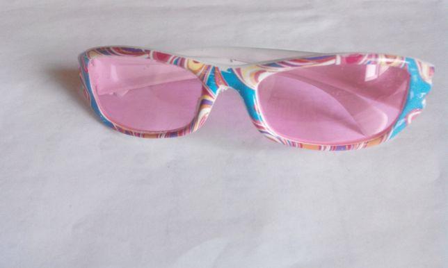 Детские стильные очки, розовые стёкла.