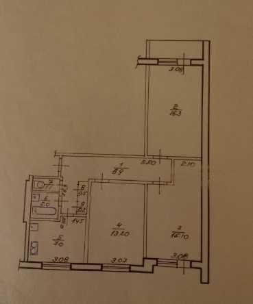 Продам 3-комнатную квартиру на Алексеевке