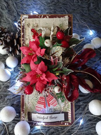 Kartka bożonarodzeniowa świąteczna handmade piękna!