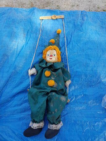 Palhaço marionete antigo em loiça