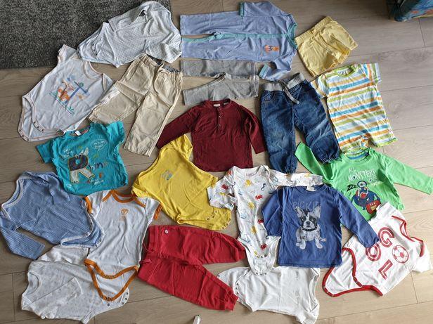 Mega Paka dla Chłopaka Zestaw 74 80-86cm Paczka ubranka dla chłopca