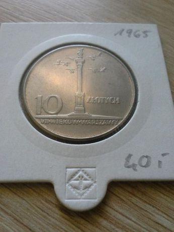 10 złotych Kolumna Zygmunta 1965 MENNICZA