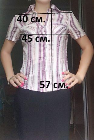 Сорочка 42-44 размер Блузка Шкільна блуза XS-M Школьная рубашка