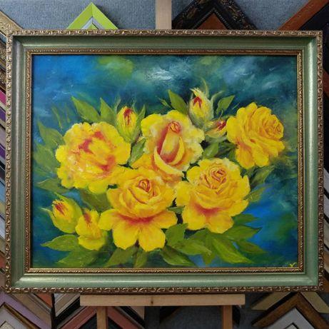 Рамка для картины, нарядная рамка для портрета, багет для живописи №85