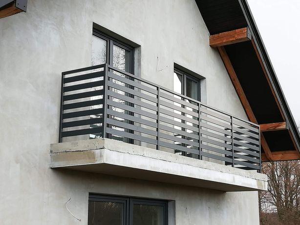 Balustrada balkonowa 100x20 ocynk malowana proszkowo