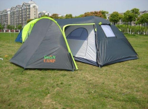 Палатка двухслойная четырехместная с тамбуром и тентом Green Camp 1009