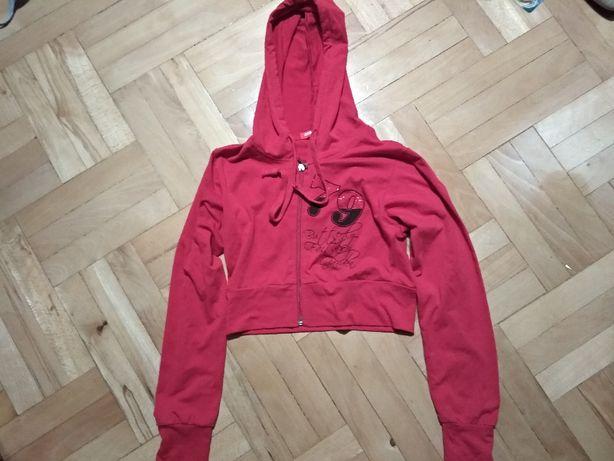 Czerwone bolerko bluza czerwona z kapturem skrzydła anioła