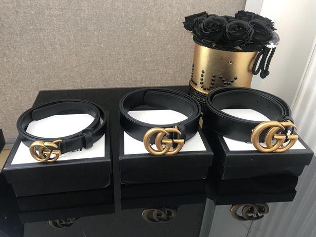 Pasek GUCCI złota klamra czarny 3 szerokości Wysyłka 24h EXTRA CENA