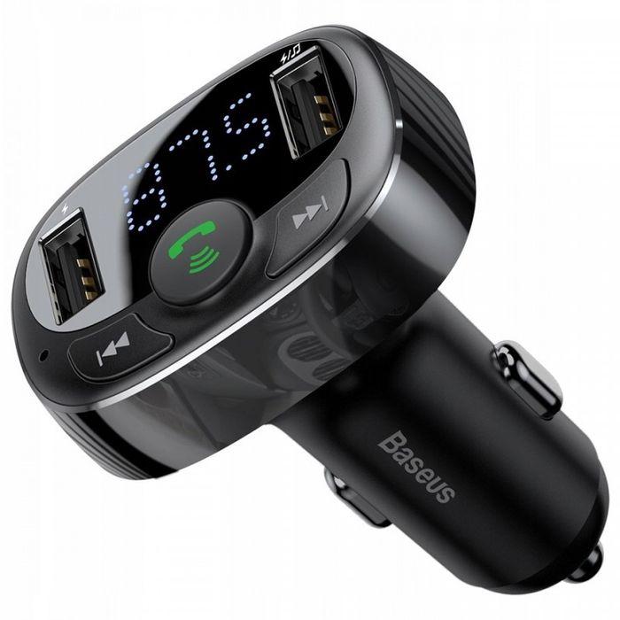 FM-модулятор Baseus S-09A T typed (Bluetooth, MP3) c функцией зарядног Тернополь - изображение 1