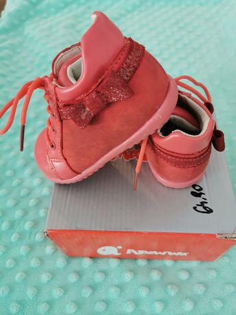 Czerwone buciki trzewiki dla dziewczynki półbuty apawwa 21