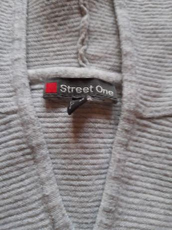 Sweter z kapuzą popielaty