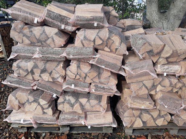 Drewno do wędzenia dąb dębowe worki workowane