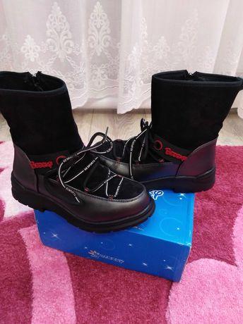 Зимние ботинки, сапоги для девочки 34 р.