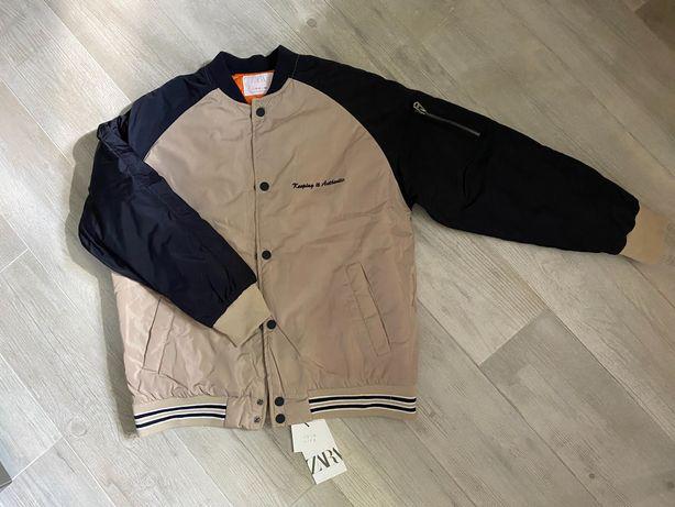 Новая тёплая куртка бомбер Zara размер 13-14 лет 164 см