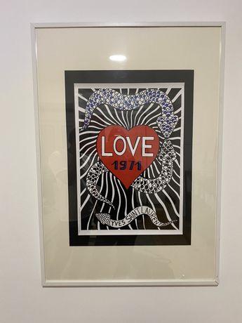 Poster YSL Yves Saint Laurent Moda