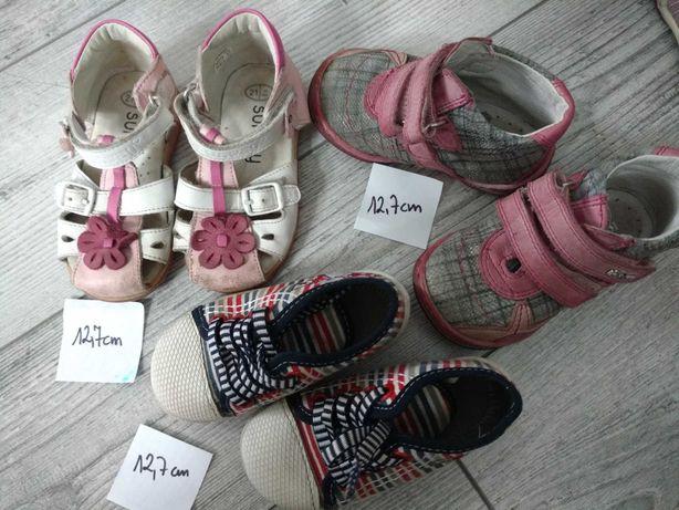 Buty / buciki dziewczęce r. 21, 12,7 cm