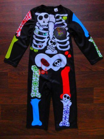карнавальный костюм на 1-2 года скелет TU 92 размер хэллоуин
