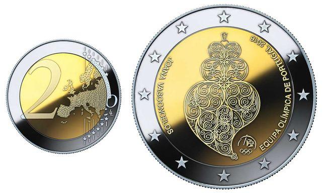 85 Moedas 2 euros comemorativas e notas tiragem inicial