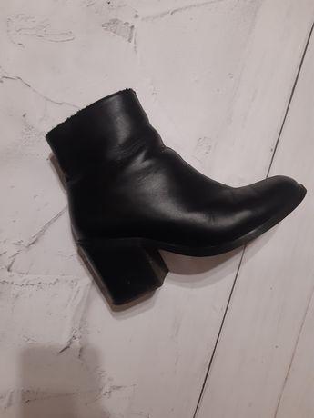 Ботинки зимние на каблуке (натуральная кожа)